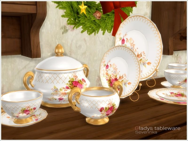 A set of decorative dishes for decorating the table ...