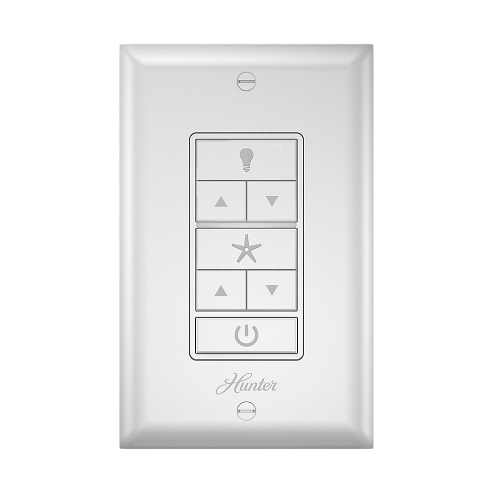 Hunter Indoor White Universal Wall Mount Ceiling Fan Switch 99373 The Home Depot Ceiling Fan Switch Hunter Ceiling Fans Ceiling Fan