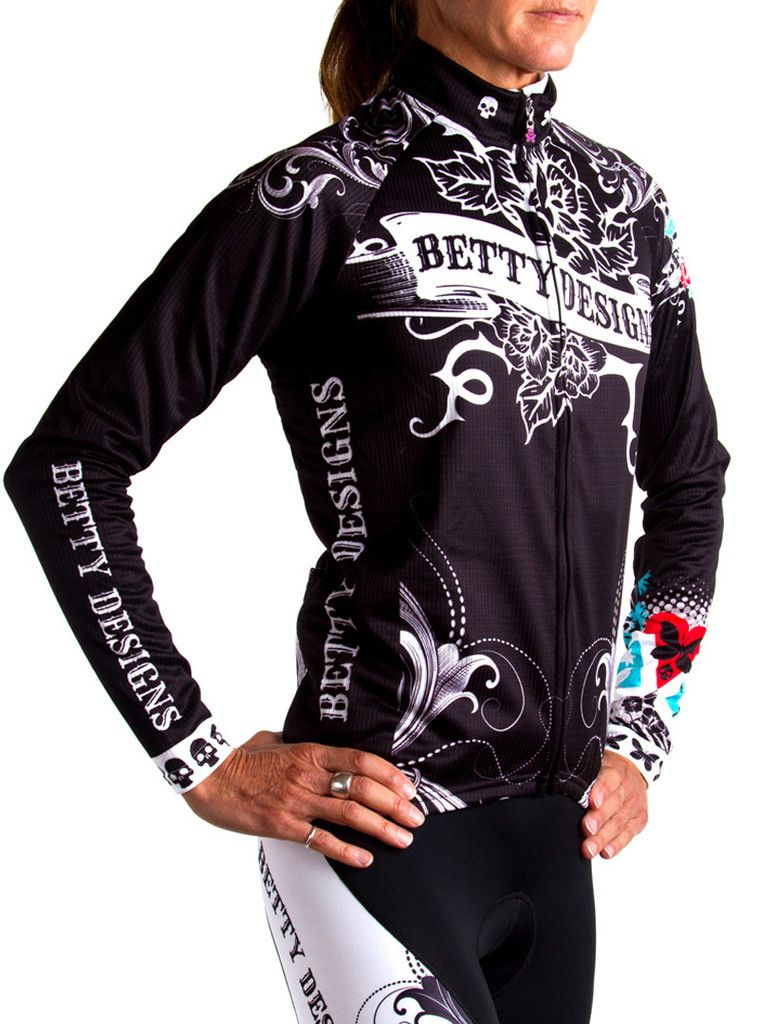 Tattoo Long Sleeve Cycling Jersey Cycling outfit, Betty