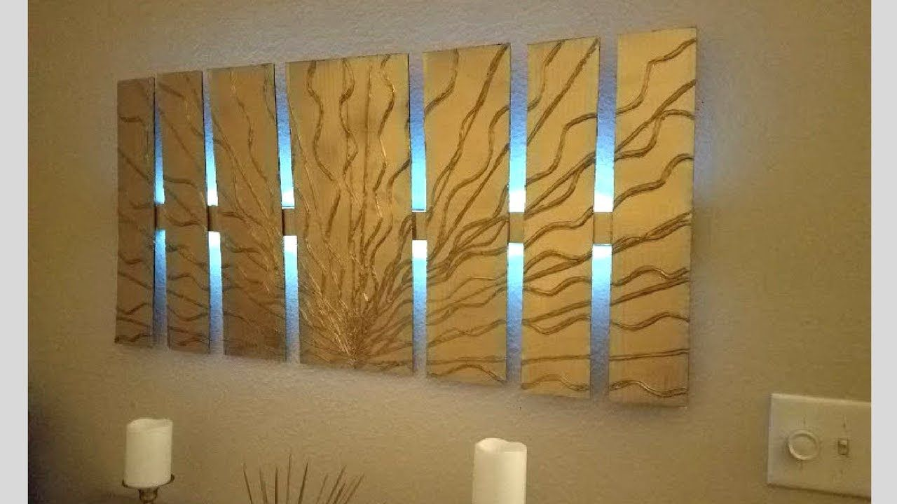 Diy Wall Decor With Lighting Using Cardboard Simple And