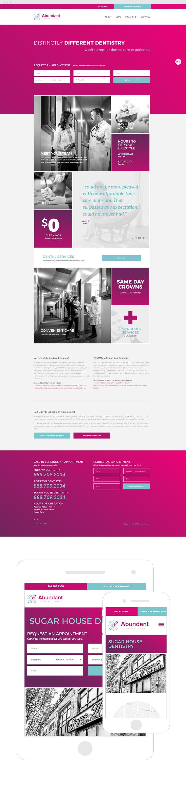 Abundant dental services website by epic marketing