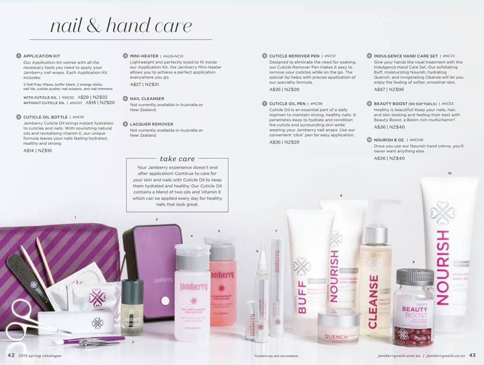 2015 spring Australia Catalogue Nail care products page 42-43 ...