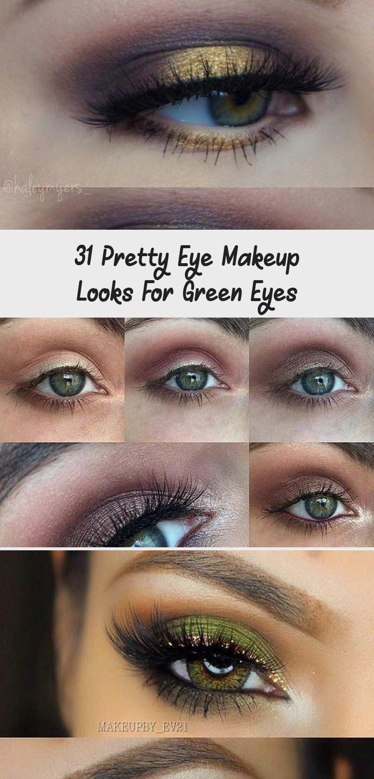 Photo of 31 Pretty Eye Makeup sucht nach grünen Augen –  Black and Gold Eye Makeup Achte…