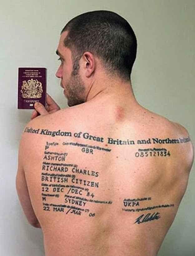54faca94f3998 25 Extremely British Tattoos | tattoos | British tattoo, Weird ...