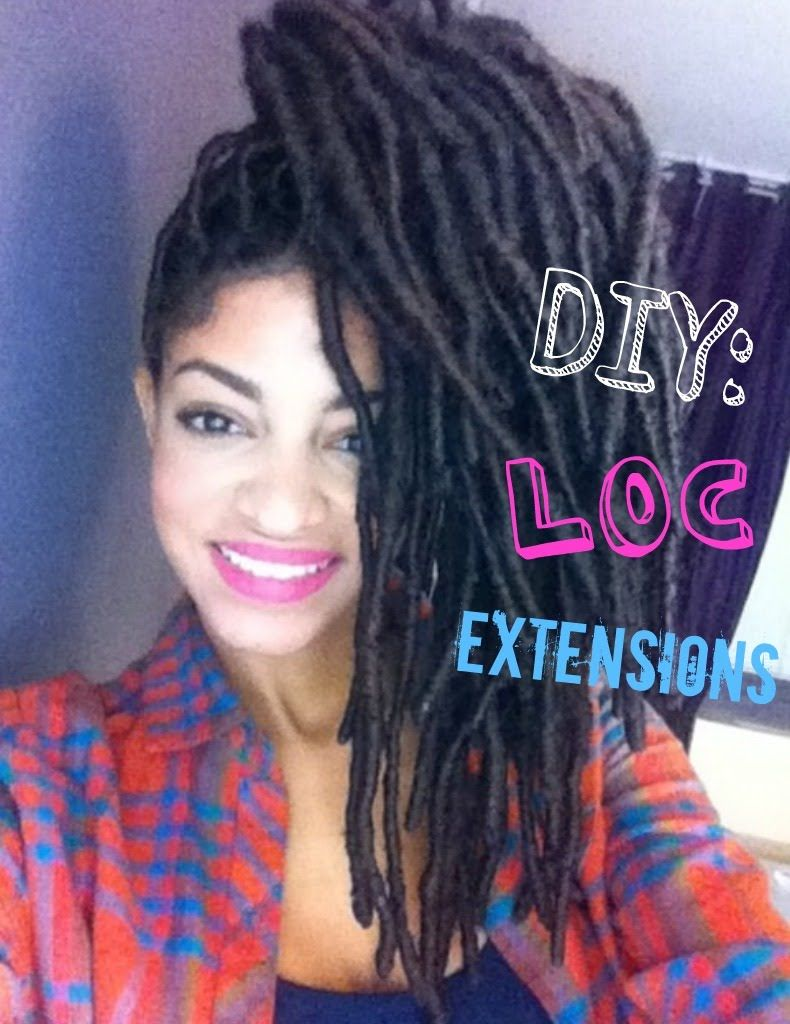 Loc extensions with marley hair tutorial next style canut