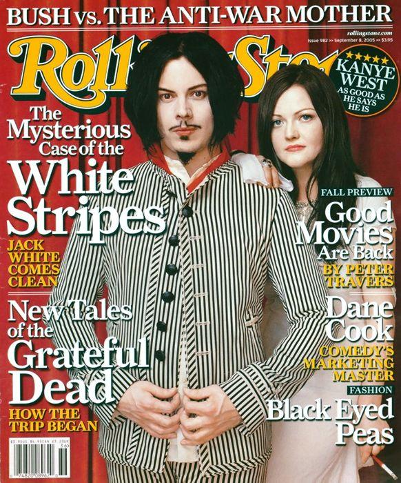 White Stripes September 8 2005 Rolling Stone Magazine Cover Rolling Stones The White Stripes