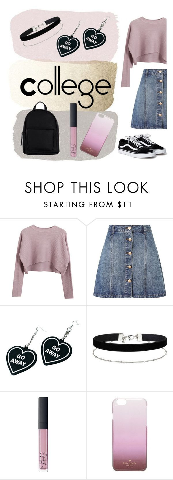 """""""College"""" by americanbarbies on Polyvore featuring Chicnova Fashion, Anita & Green, Witch Worldwide, Miss Selfridge, NARS Cosmetics, Kate Spade and New Look"""