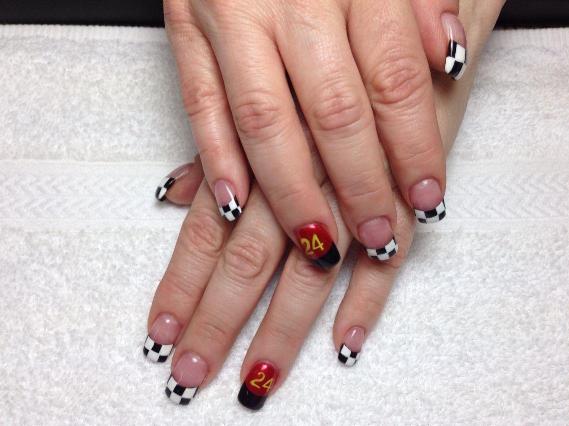Nascar Nails - Nascar Nails Nail Art Pinterest Nascar Nails, Racing Nails
