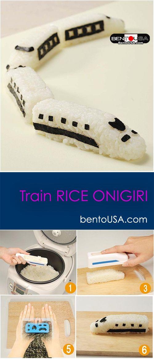 Play with food - Fun Train Rice Ball Onigiri #readyforschool