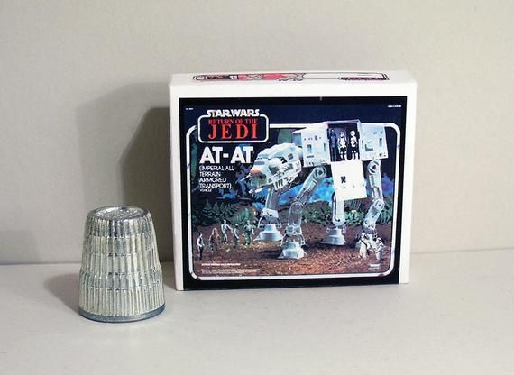 Star Wars At At Box - Dollhouse Miniature - 1:12 scale  Dollhouse accessory -  1970s 1980s Dollhouse boy toy box - Miniature box replica #dollhouseaccessories