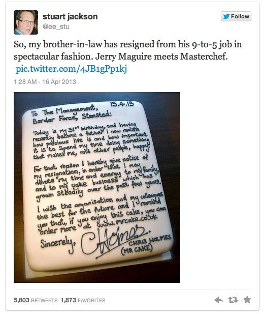 Man Brilliantly Quits His Job to Pursue Dream Job With Resignation