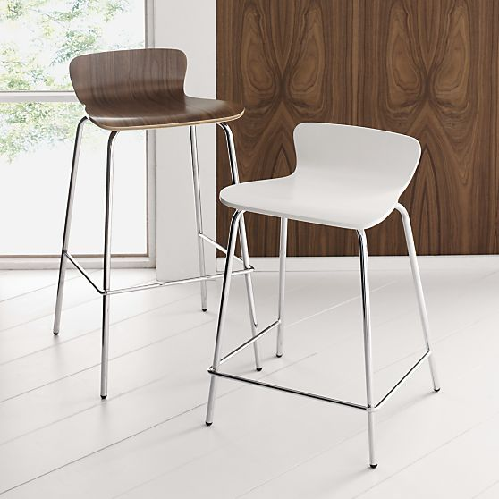 Felix 24 Walnut Counter Stool In Barstools Crate And Barrel