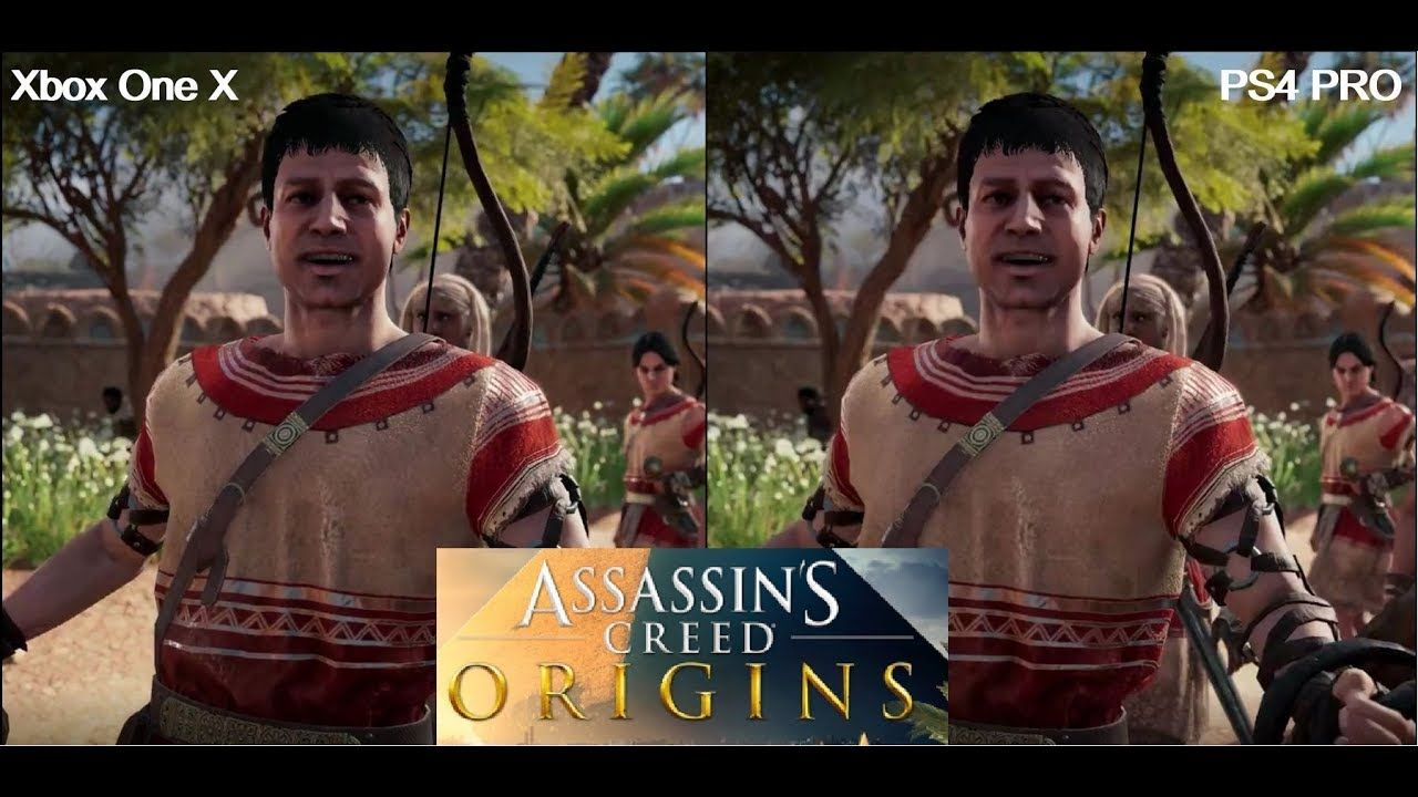 42a754f9fb2 Assassins Creed Origins - PS4 PRO vs XBOX ONE X Graphics Comparison ...