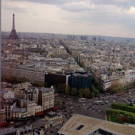 Overlooking Paris from the hotel
