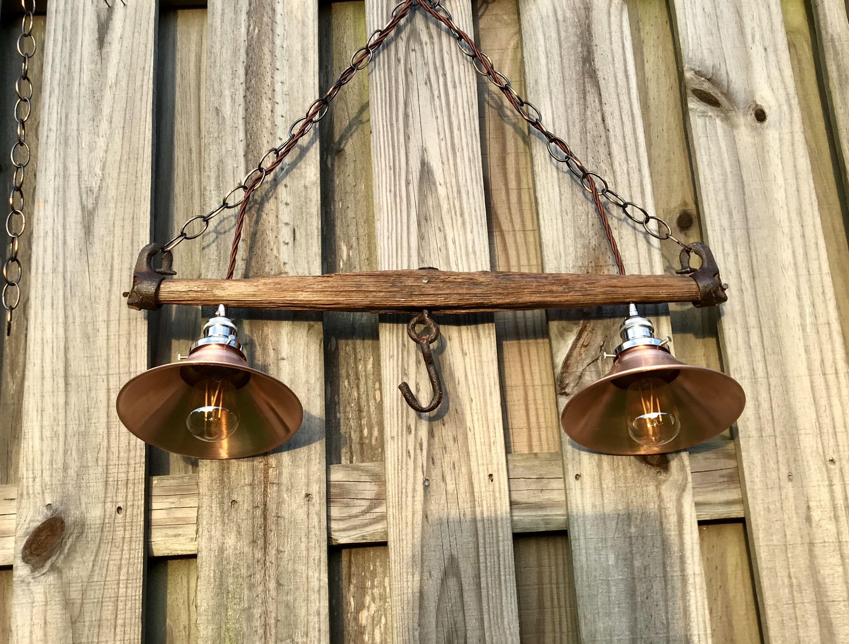 Antique yoke farmhouse style pendant light Farmhouse