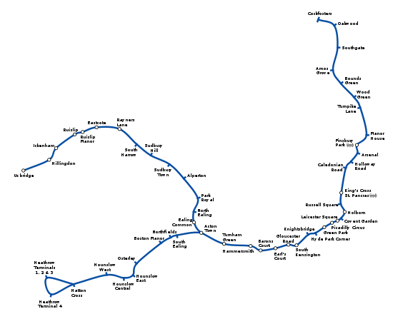 Mtb Subway Map Boston.Piccadilly Line Geographical Map London Line Diagram Diagram