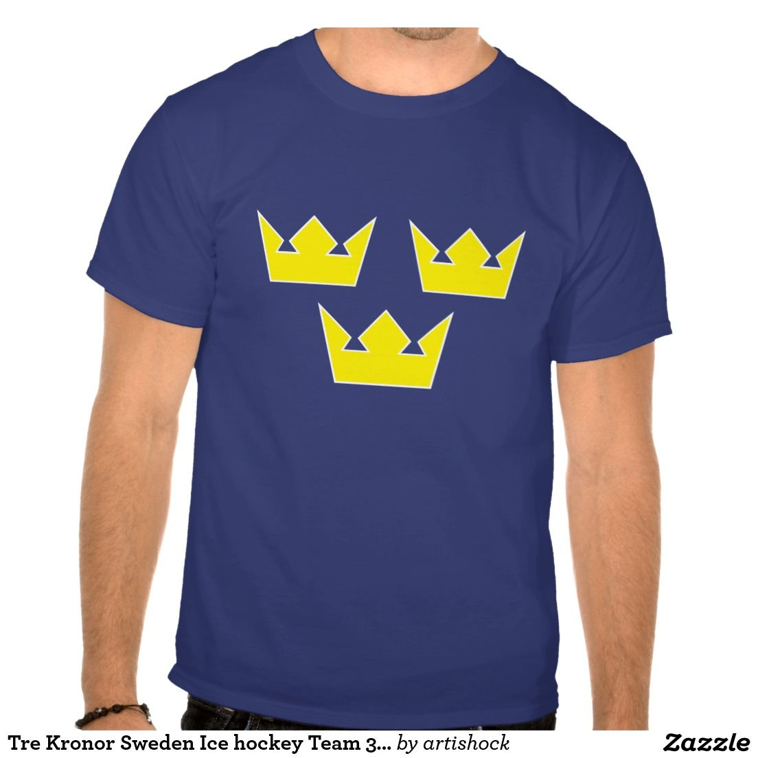 Tre Kronor Sweden Ice Hockey Team 3 Crowns Olympic T Shirt