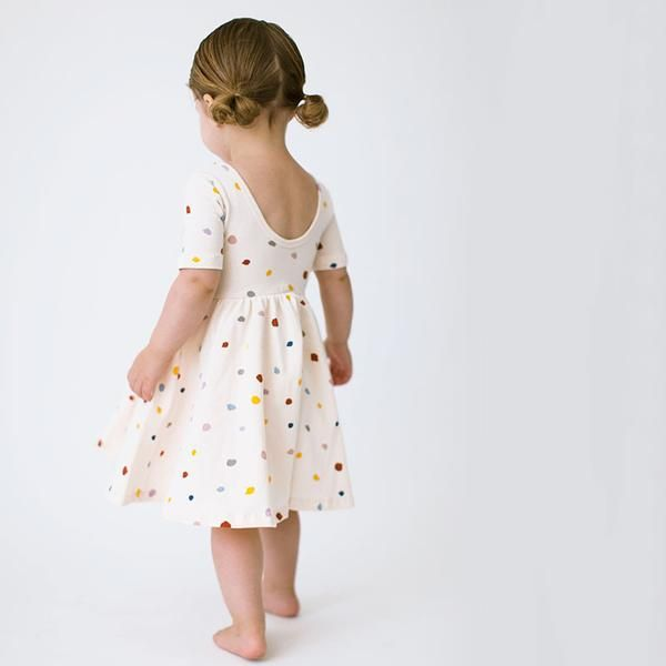dacd61ae078 THE SHORT SLEEVED BALLET DRESS IN CONFETTI - Alice + Ames