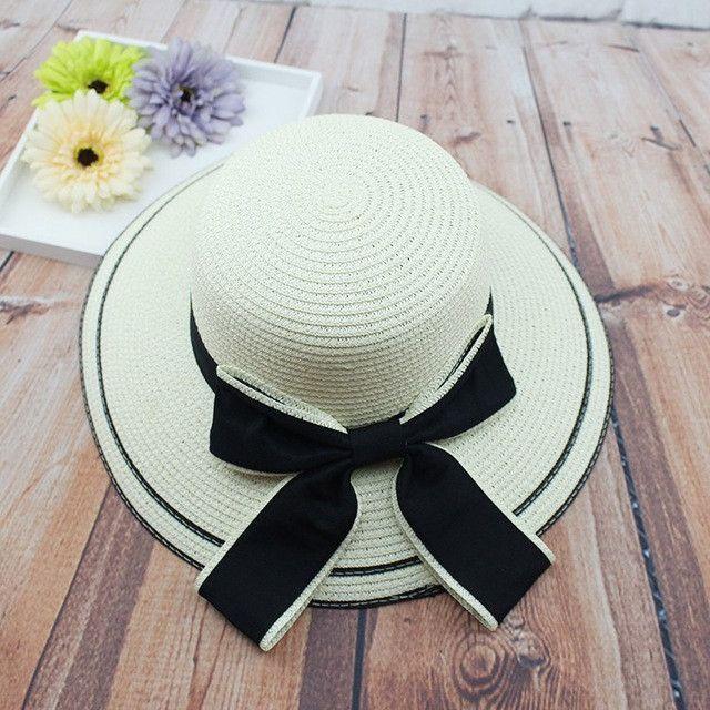 Big Bow Beach Bowknots Straw Basin Bucket shading Hats