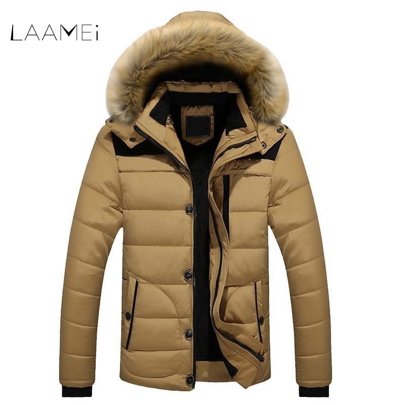 6b2c02def2f93 New FIT -25  C Brand Winter Casual Jackets Men s Parkas Coats Male Down  Keep Warm Faux Fur Lined Parkas Plus Size L-6XL