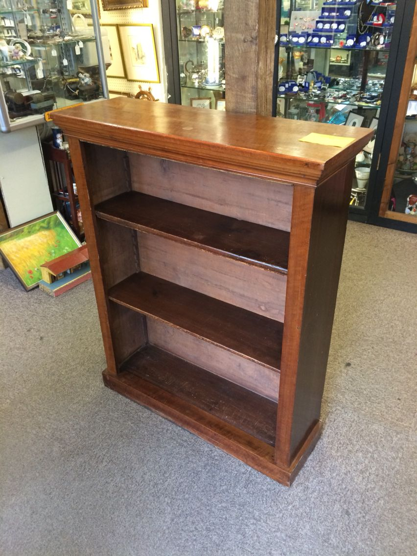 Beautiful solid wood bookcase I purchased from the local antique shop, hope it's the perfect fit on the landing....!