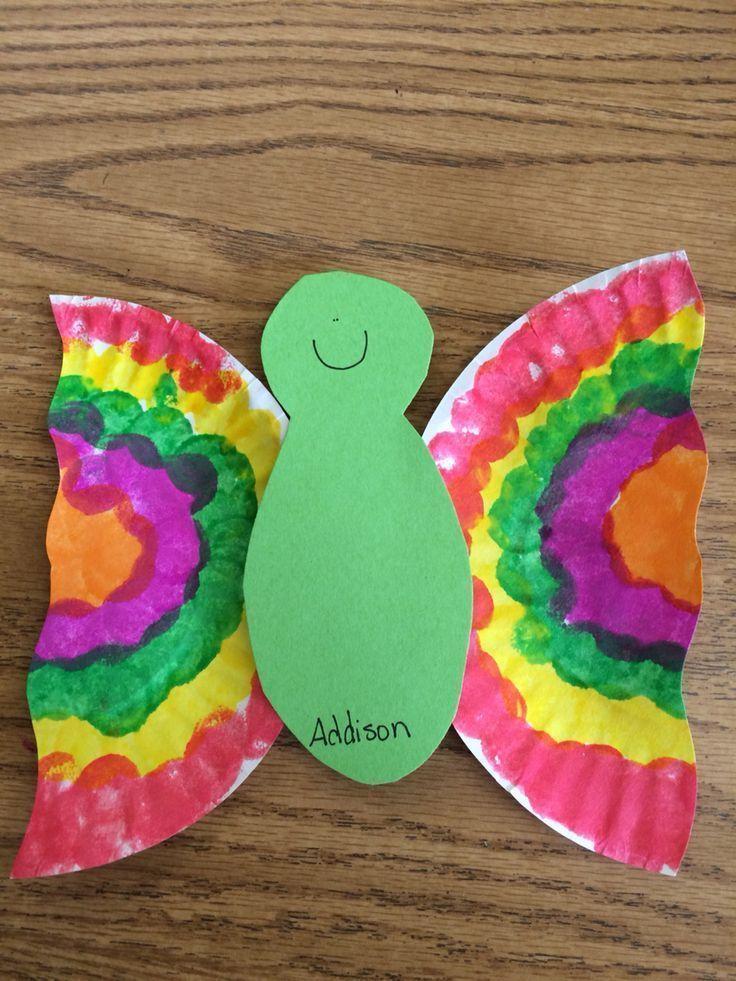 Easy paper plate butterflies & Easy paper plate butterflies   Preschool   Pinterest   Butterfly ...
