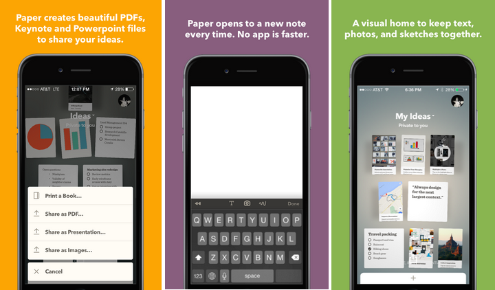 Paper by FiftyThree for the iPhone Paper, Iphone, Powerpoint