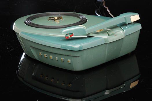 "Stunning vintage Zenith ""Disc Jockey"" semi-automatic 3 speed phonograph, model S-9017, circa 1956."
