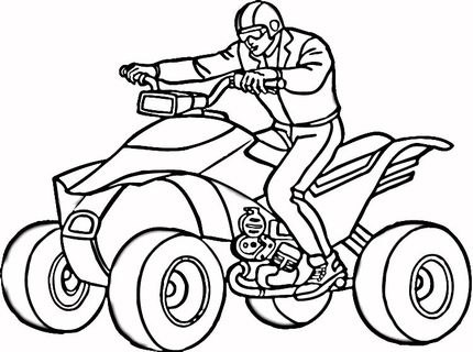 Four Wheeler Coloring Page