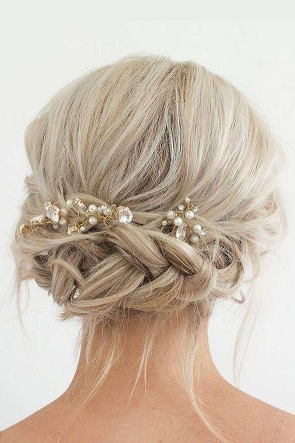 44 beautiful wedding hairstyle ideas for medium length hair