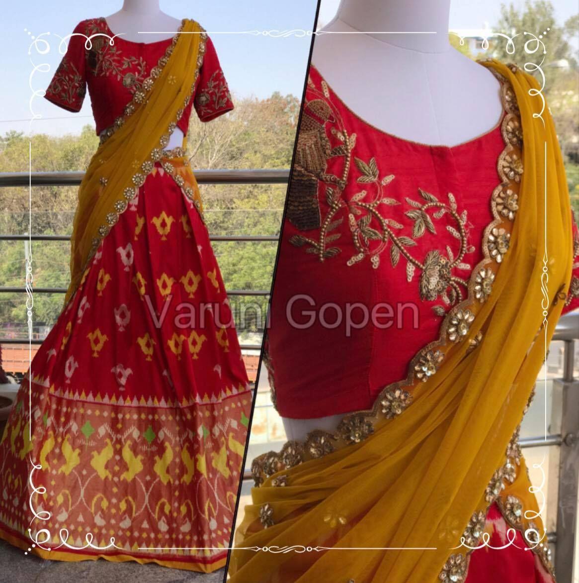 Ikkat lehenga for this wedding seasonFor more detailsMail varunigopen@gmail.comWhatsApp 9849125889  07 March 2017