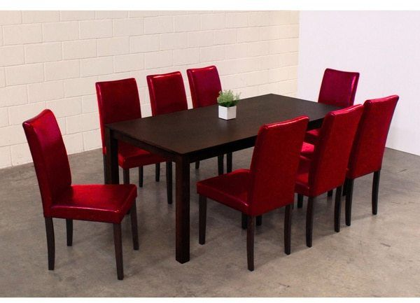 Exceptionnel Warehouse Of Tiffany Shino Red 9 Piece Dining Set
