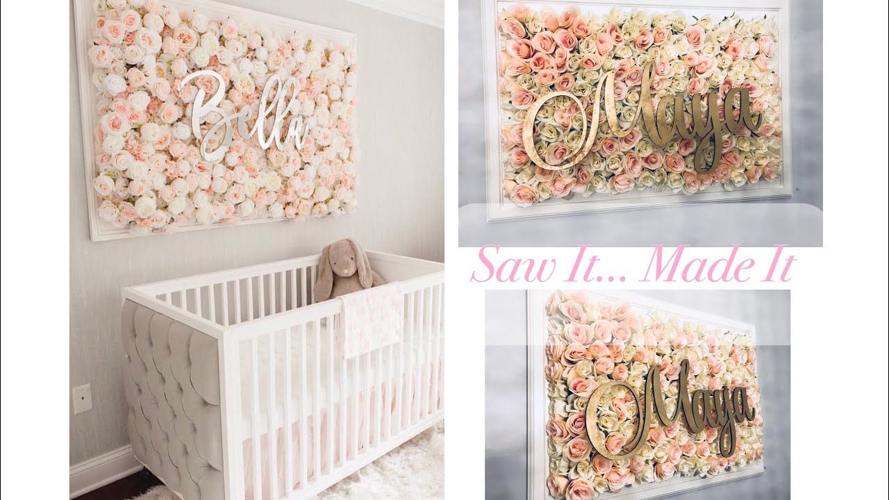 Diy Nursery Flower Wall Picture