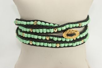 Green Beaded Wrap Bracelet $14