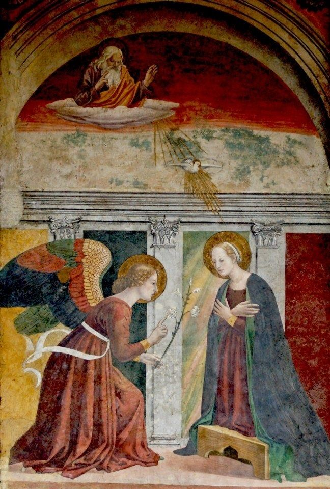 Melozzo da Forlì: Melozzo da Forlì ( Forli, ca.1438-94) ~ Annunciation ~ Pantheon ~ Roma ~ Melozzo da Fo...