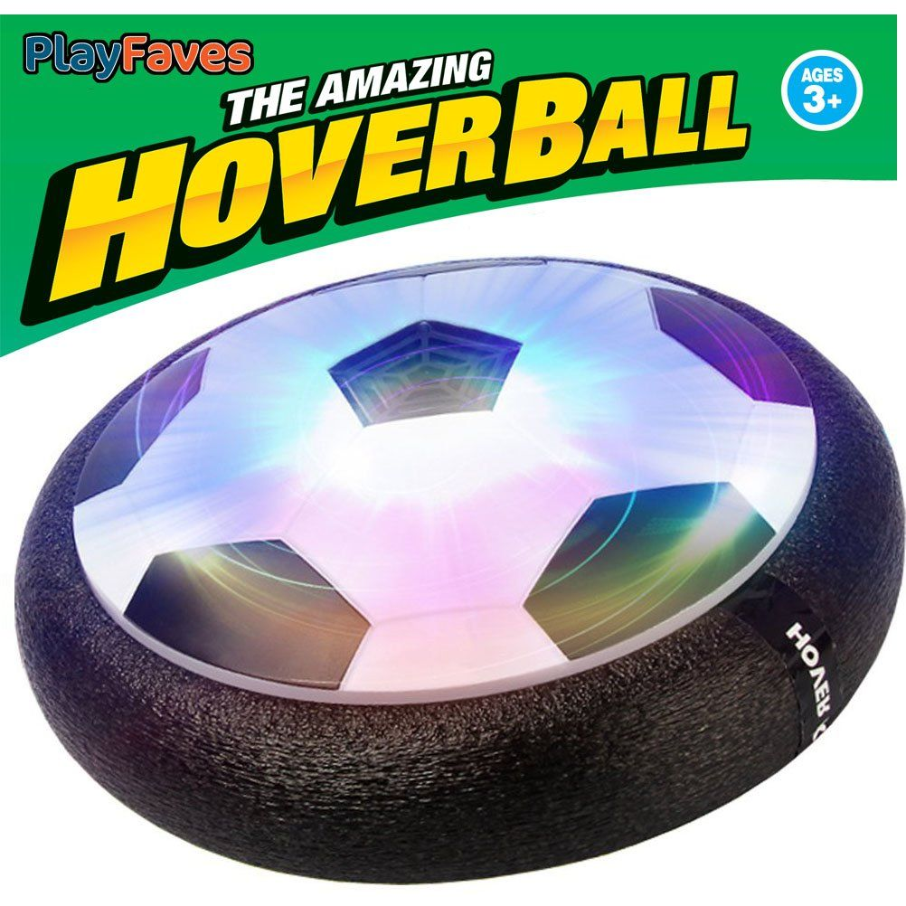 aac1b8e140fe PlayFaves Hover Soccer Ball Size 4 Kids (Boys and Girls) Indoor Training  Air Power