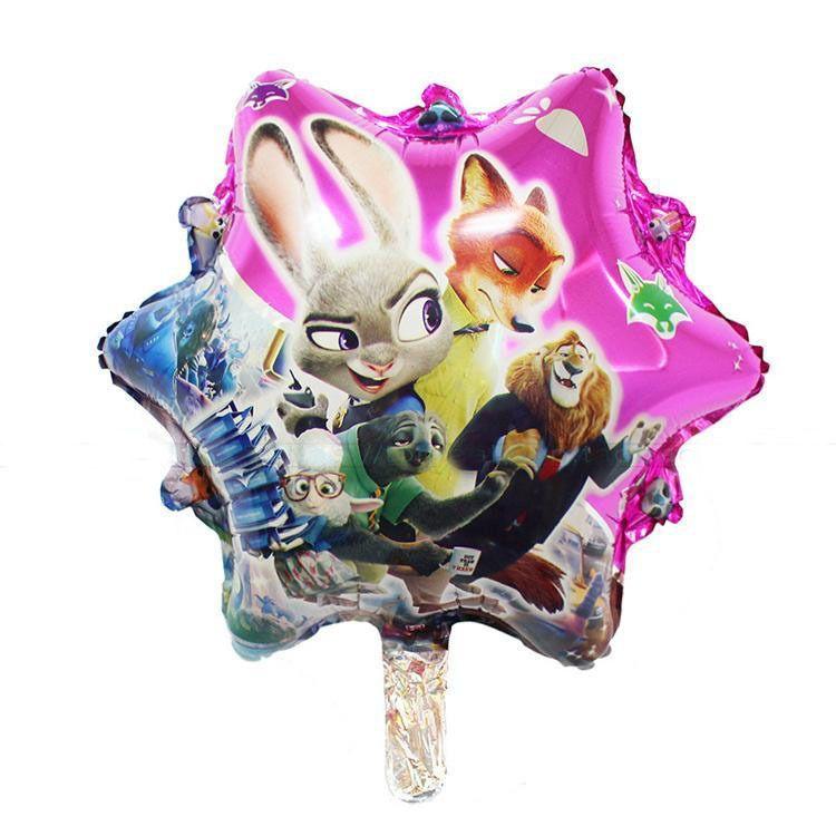 5Pcs Zootopia Zootropolis Birthday Party Baby Shower Foil Mylar Balloon 18