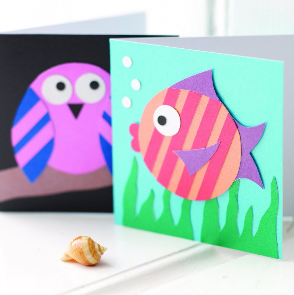 Childrens craft activities fun animal home made cards for Fun easy paper crafts at home