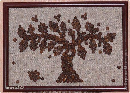Картина своими руками из зерен кофе