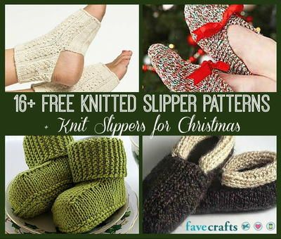 16 Free Knitted Slipper Patterns Knit Slippers For Christmas
