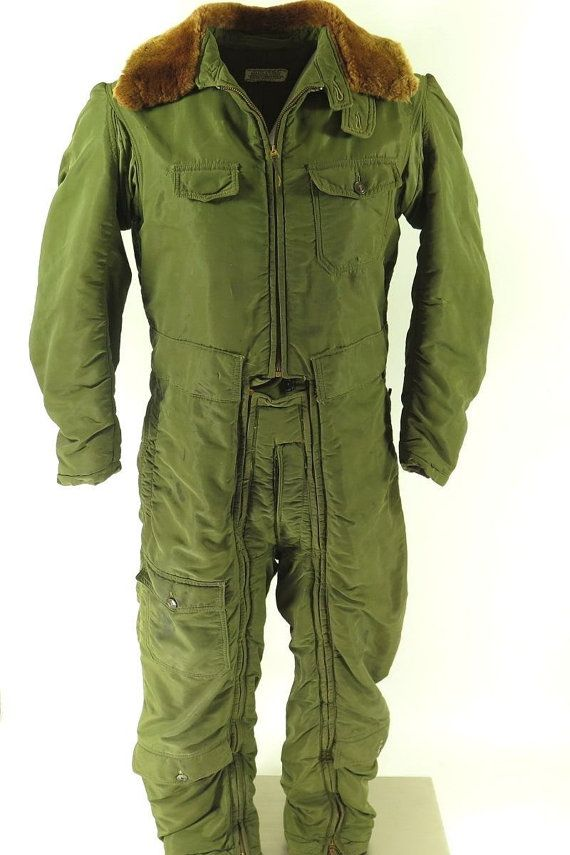 d57a98e38487bd Vintage 40s WWII Colvinex Electrical Heated Flight Suit Coveralls 40   H33R 7-4 Long
