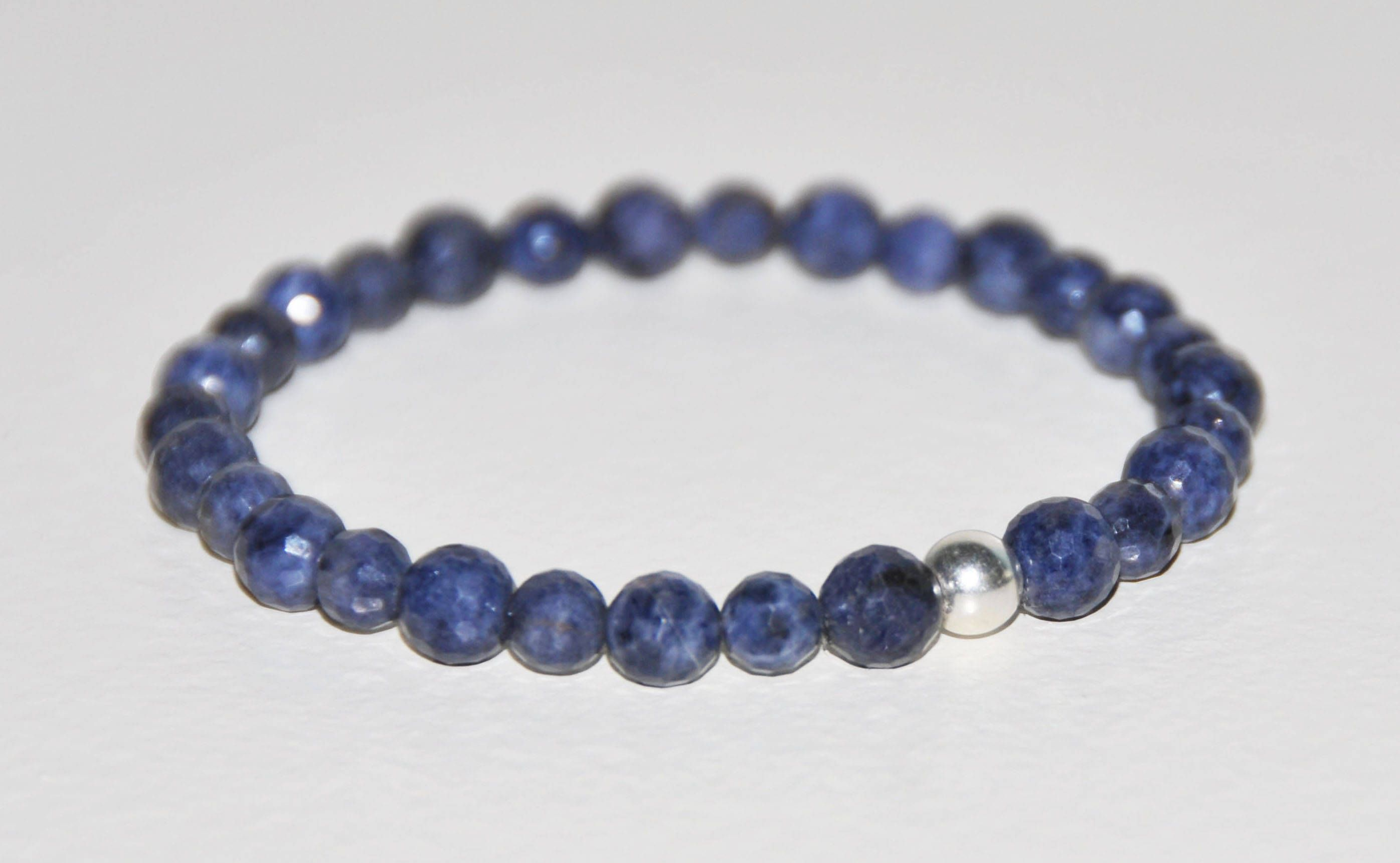birthstone sterling untreated pin natural sapphire silver prosperity blue september gemstone genuine bracelet