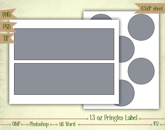 13 oz Mini Pringles Labels Digital Collage Sheet Layered Misc