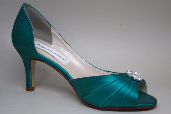 Finally A Cute Pair Of Teal Shoes Perfect For The Wedding Day Wedding Shoes Heels Kitten Heel Wedding Shoes Bride Shoes