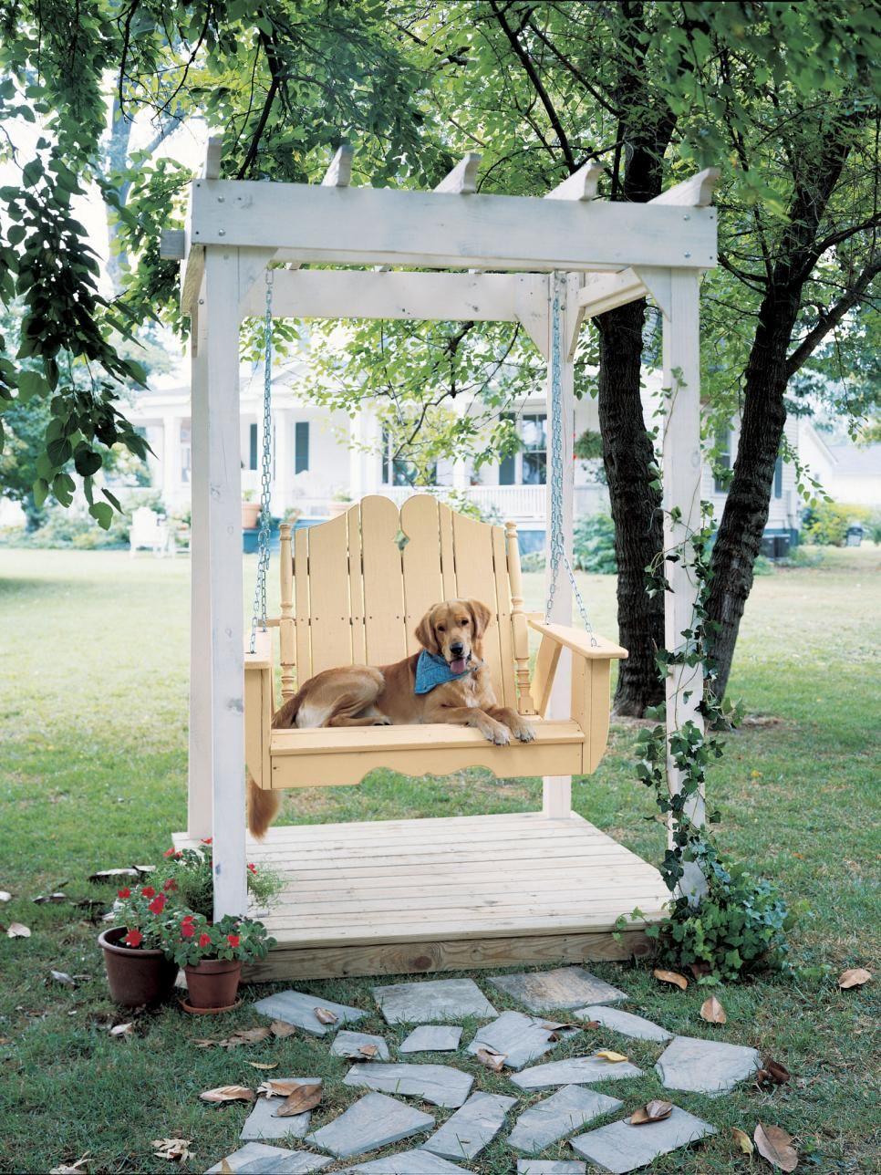 Garden swing design ideas garden swings hgtv and swings