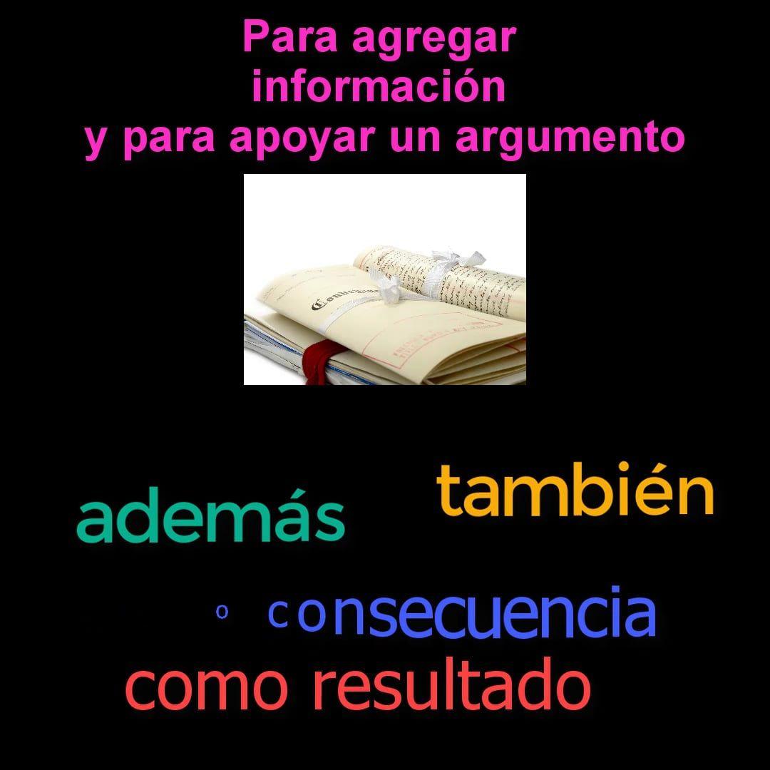 Spanish Ap Upper Level Writing Transition Words
