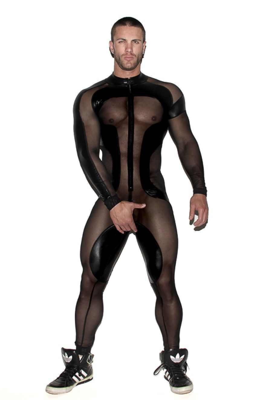 Spandex body suit fetish