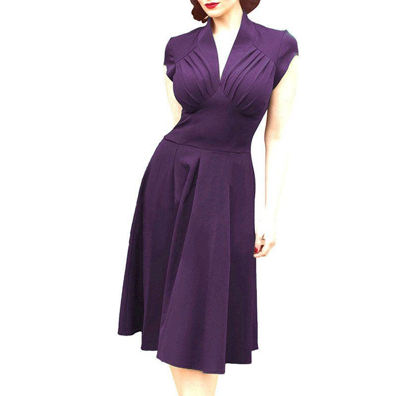 Dress 50s Style 4 Colors 1950s Vintage Rockabilly 60s Clothing Retro ...