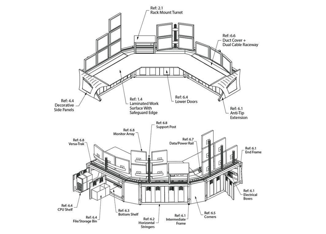 Sight Line Control Room Console Specifications Winsted Command Center Control Floor Plans