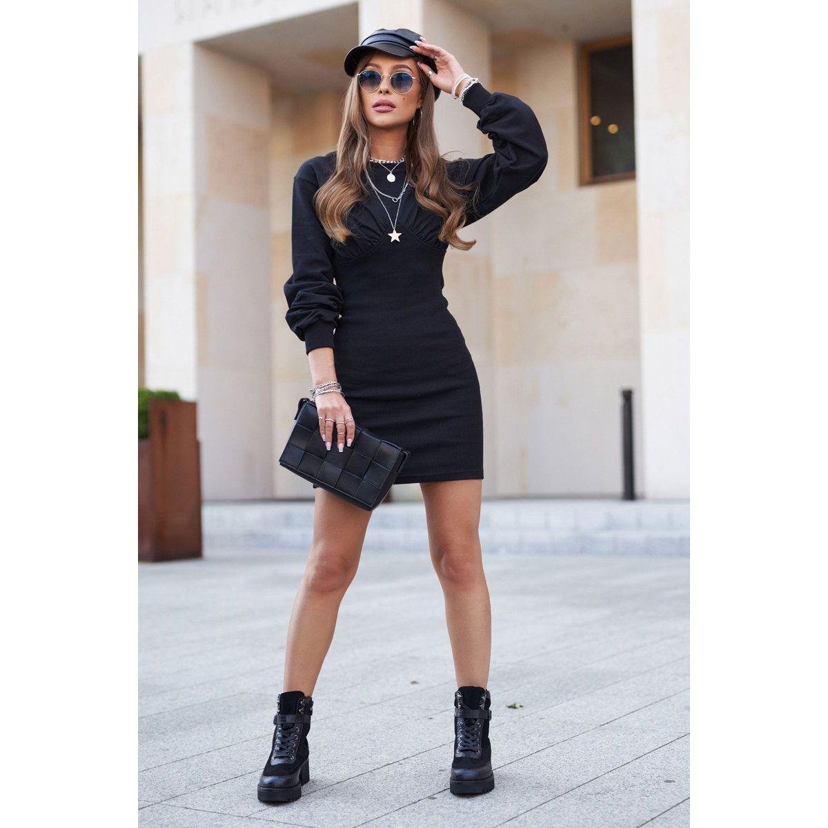 S Barski Damskie Botki Trapery Czarne Mango In 2021 Fashion Style Leather Skirt